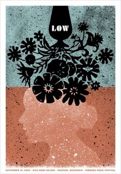 Low : Garrett Karol #design #screenprint #poster #texture