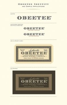 Obeetee Identity | Roseys 2010 #mark #type #card #logo