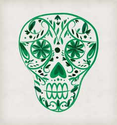 Dia De Los Muertos print illustration on Behance