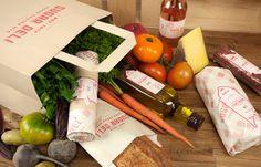 Sugar Deli Food Center NYC #branding #clean #photography #produce #logo #organic