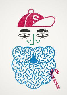 Selfridges: Santa Stamp! on Behance #stamp #santa #human after all