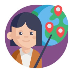 See more icon inspiration related to woman, map, world, globe, net, worker, maps and location, employee, user and business on Flaticon.