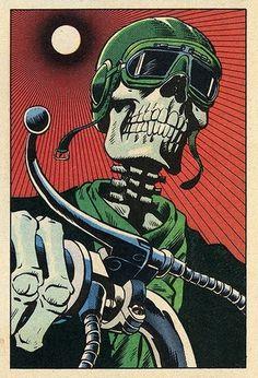 3521074362_bf9f90a556.jpg (341×500) #print #motorcycle #skull