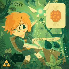 Fan Art Owen Davey Illustration #link #video #illustration #game #zelda