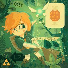 Fan Art Owen Davey Illustration #illustration #video game #zelda #link