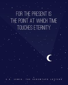 CS Lewis quote poster #poster #moon #quote #night sky #stars #typeography #cs lewis #free printable