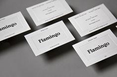Flamingo branding business cards