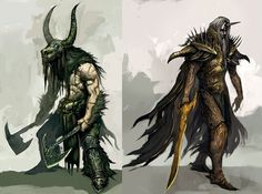 Guild Wars concept art #fantasy #illustration #magic #monster #character
