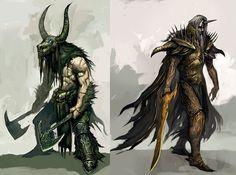 Guild Wars concept art #illustration #character #fantasy #monster #magic