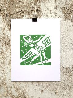 Floor Sho' - 8 x 10 Mini Poster #kitsch #retro #girlie #illustration #vintage #etching #matchbook #art #burlesque
