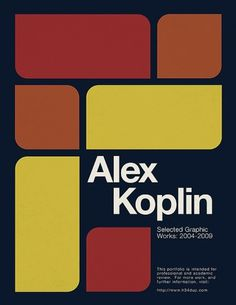 Portfolio Printbook Project: Part 1 | Blog.H34 : Music, Design, Culture #koplin #portfolio #alex #cover #h34dup