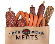 Smoked and Prepared Meats #brier #branding #co-op #design #icons #food #rebranding #vintage #logo #david #typography