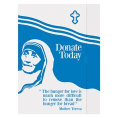 Mother Teresa Charity Presentation Folder Template #charity #donation #template #mother #donate