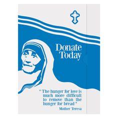 Mother Teresa Charity Presentation Folder Template
