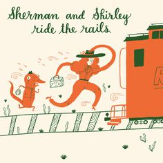 train, Mary Kate McDevitt, illustration, fun, abstract, person