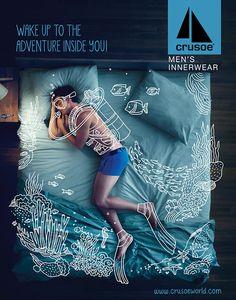 Crusoe Men's Innerwear Campaign #advertisement #illustration