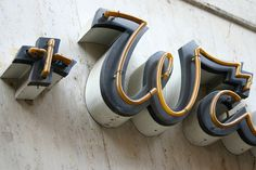 Typography (Mieder + Wäsche (detail) by Florian Hardwig on Flickr. Via typenovel) #sign #neon