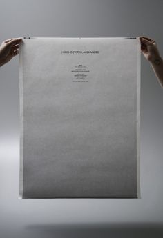 Alexandre Herchcovitch #campo #white #black #poster #and #gradient #typography