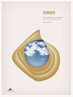 The Four Seasons on Behance #seasons #layout #poster #four
