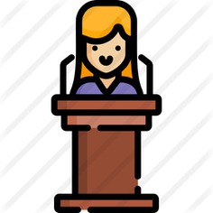 See more icon inspiration related to Politician, femenine, podium, conference, female, user, speech, girl, woman, avatar, profile and people on Flaticon.