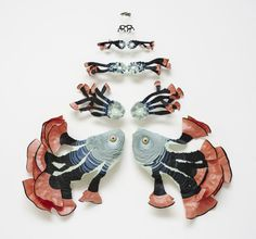 paper, fish, metamorphosis, sculpture