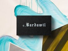 Cedric Bardawil Business Cards #business cards #print #stationery #branding #typography #blackletter