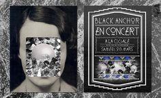 Akupoftea #flyer #black #barneau #music #anchor #christophe #typography
