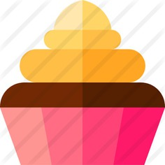 See more icon inspiration related to food and restaurant, baked, cupcake, dessert, bakery, muffin, sweet and food on Flaticon.