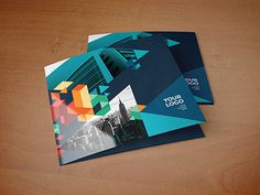 Square Colorful Blue Trifold You can download it here: http://graphicriver.net/item/square-colorful-blue-trifold/10564467?ref=abradesign #inspiration #modern #print #design #colorful #trifold #brochure