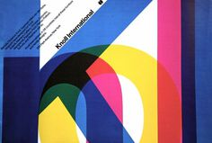 Knoll International Poster (1967) by Massimo Vignelli