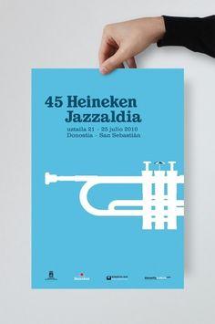 33Cartel45HeinekenJazzaldia_01.jpg (JPEG Imagen, 666x1000 pixels) #design #graphic #de #caja #la #poster #tipos