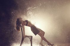 Goldenpoint F/W underwear on Behance #model #water #warm #fashion #backlight