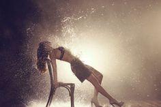 Goldenpoint F/W underwear on Behance #model #water #warm #fashion #backlight
