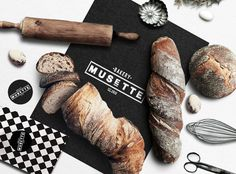 MUSETTE bakery #logo design #identity #bakery #packaging desiign