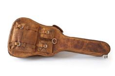 Leather Guitar Case #bag #guitar #leather