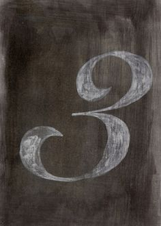 Typeverything.com - Number 3 by Giuseppe Salerno (... - Typeverything #three #letter #paint #chalk