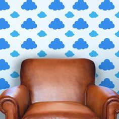 Clouds Wall Pattern Decal #wall decal #wall pattern #vinyl decal