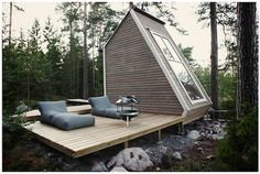 Robin Falck's Nido: A Finnish MicroCabin in the woods - Core77 #cabin #architecture