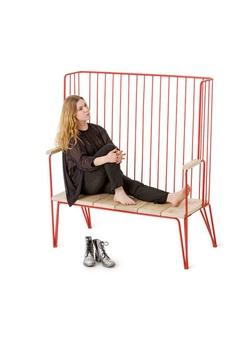 Gard backed bench - Nola