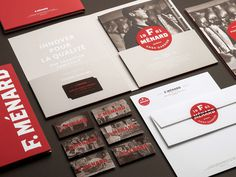 F. Ménard Logo and Identity #business #card #corporate #identity #logo #letterhead
