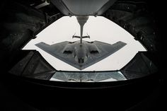 stealth, bomber, refuel, stealth bomber, flying, flight, in flight, wide angle