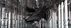 CG ghost of harps and strings created for Iris van Herpen News Digital Arts #3d