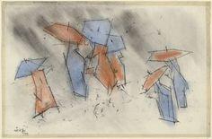 Lyonel Feininger rain people