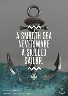 Typography 03. on the Behance Network #sailor #anchor #typography