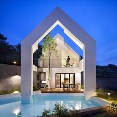 Pool Villa in South Korea by Rieuldorang Atelier 12