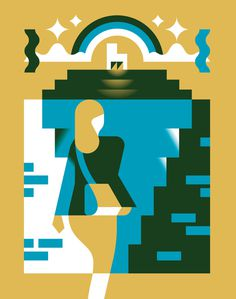 Illustration by Timo Meyer #illustration #business #woman #geometric