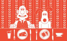 Kyle Griggs | Wallace & Gromit #silver #illustration #society #screen