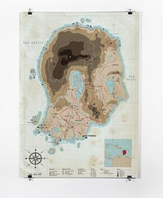Patrice Barnabé #mapa #barnab #map #island #illustration #patrice #face