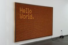 Hello World – Fubiz™ #light #art #buttons