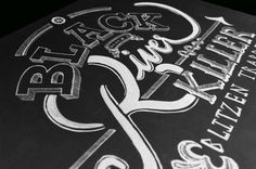 Black River Killer Lettering on Behance #lettering #river #black